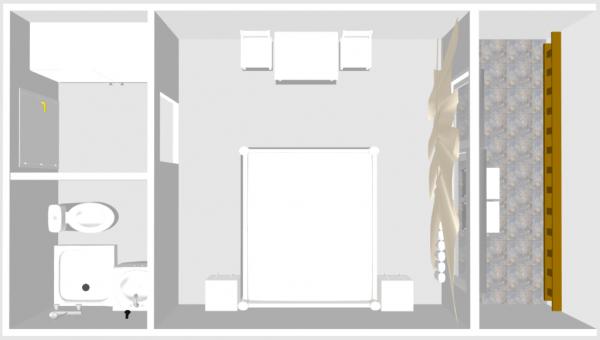 Zimmer 6 mit Balkon
